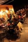 Patrons enjoy live music, great food and fresh hot coffee at The Bean in Mesilla